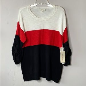NWT Two by Vince Camuto Color Block Pullover